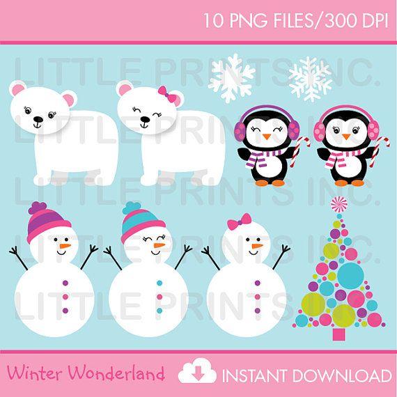 snowman penguin polar bear clipart christmas winter. Black Bedroom Furniture Sets. Home Design Ideas
