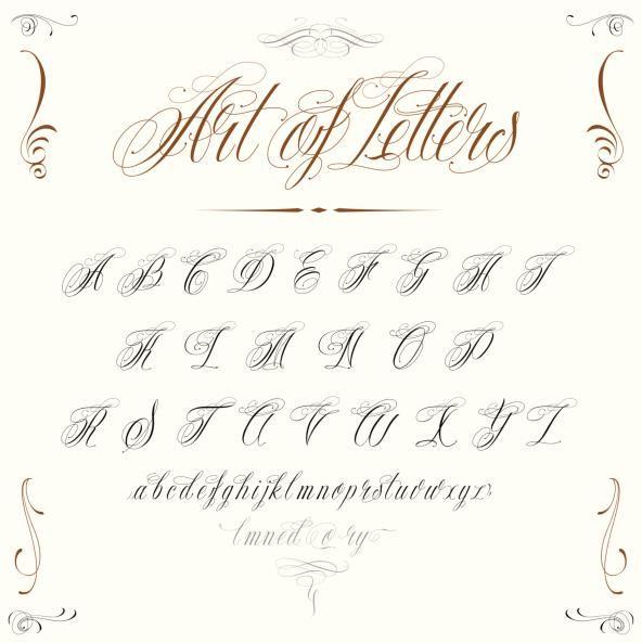 Letras Cursivas Para Tatuajes Online letras cursivas para tatuajes | todosimple | caligrafía [calligraphy