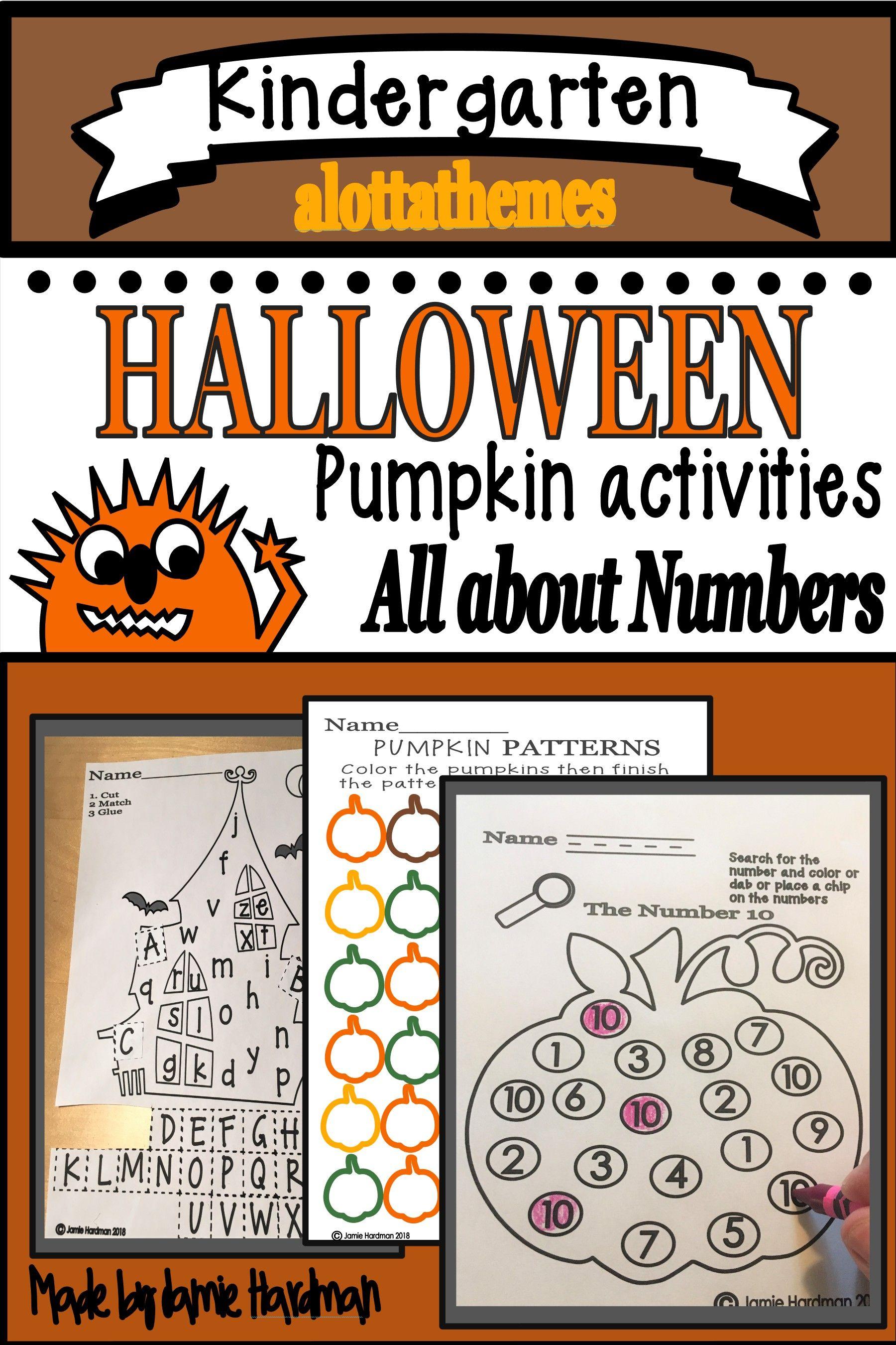 Halloween Math And Literacy Activities Kindergarten
