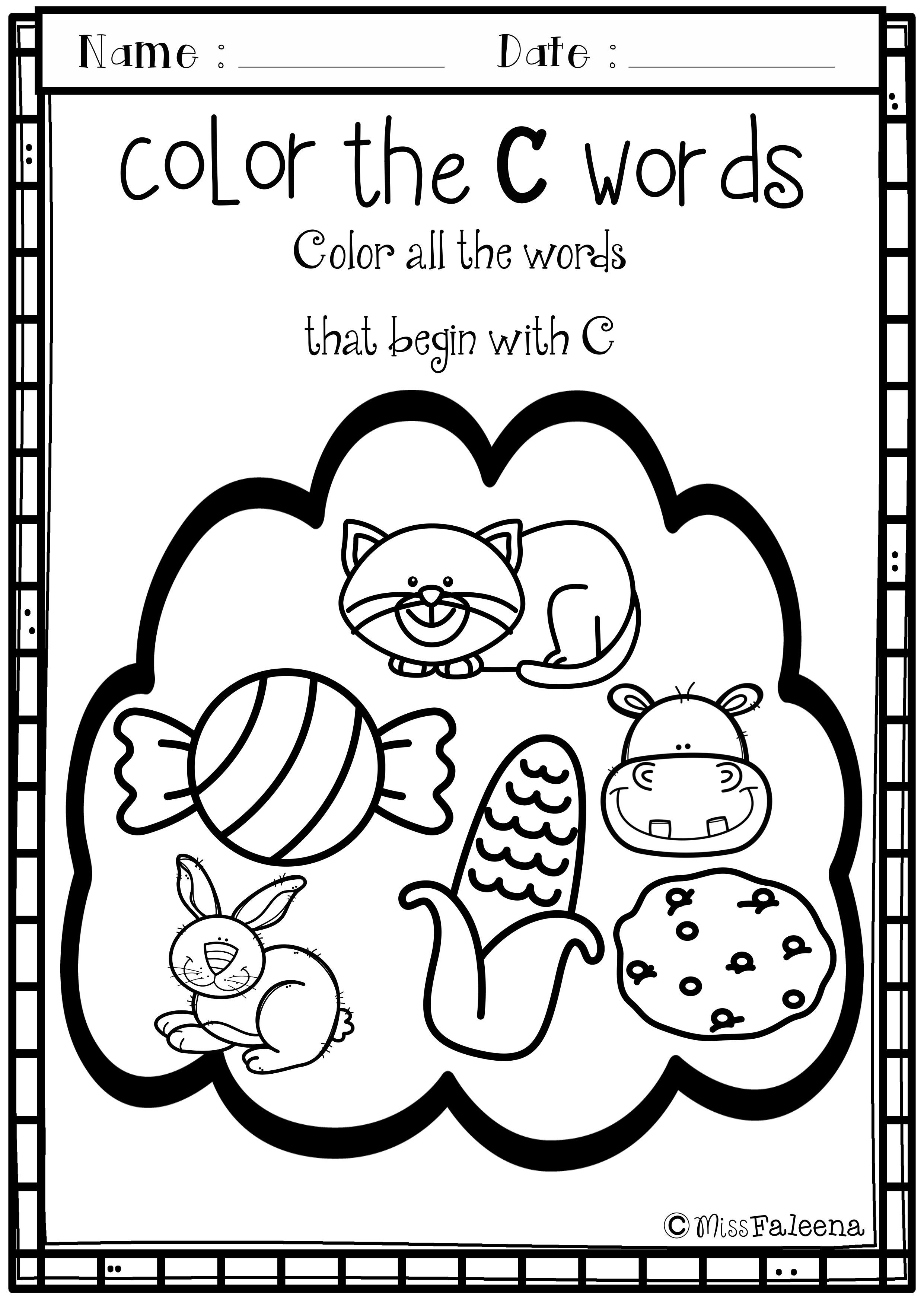 Letter Of The Week C Is Designed To Help Teach Letter C For Children  Letter Of The Week C Is Designed To Help Teach Letter C For Children Who  Are Learning Their Letters You Can Use As A Class Time Worksheet Or  Homework