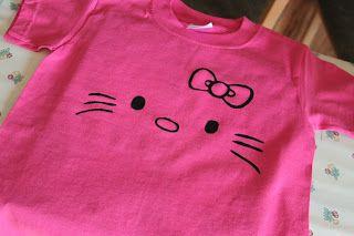 Karas Creative Place Hello Kitty T Shirt Freezer Paper Stencil