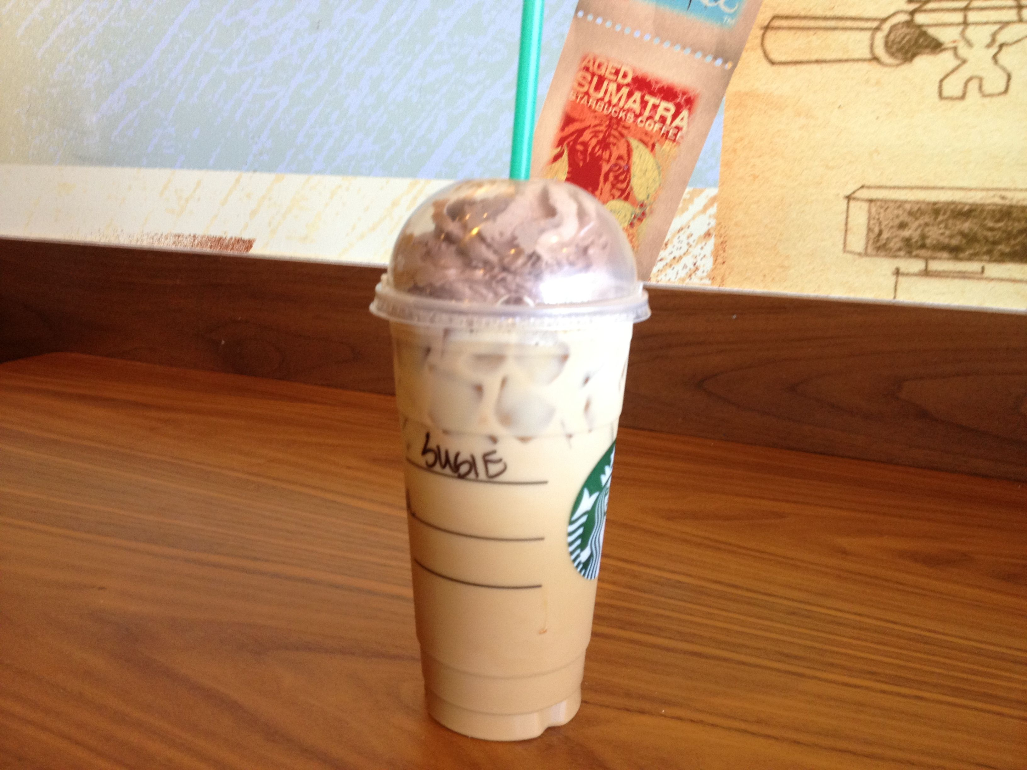 My Drink: Venti Starbucks Double-Shot with 5 pumps white mocha, 2 ...