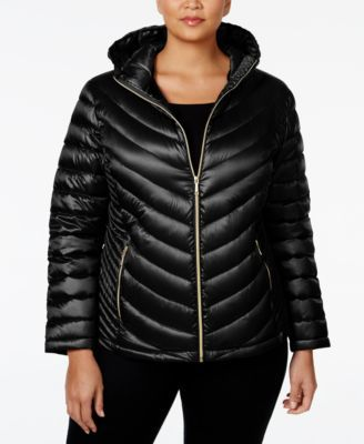 24d645d2ceb2 Calvin Klein Plus Size Packable Down Hooded Puffer Coat