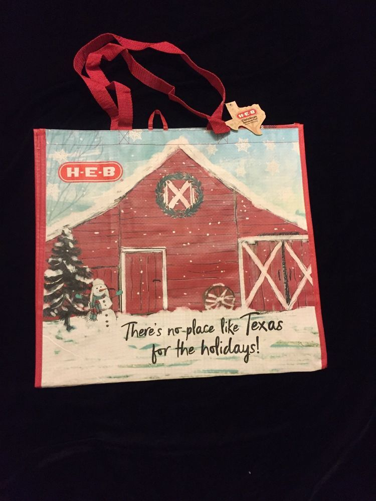 Details about HEB No Place Like Texas Tote Bag Christmas