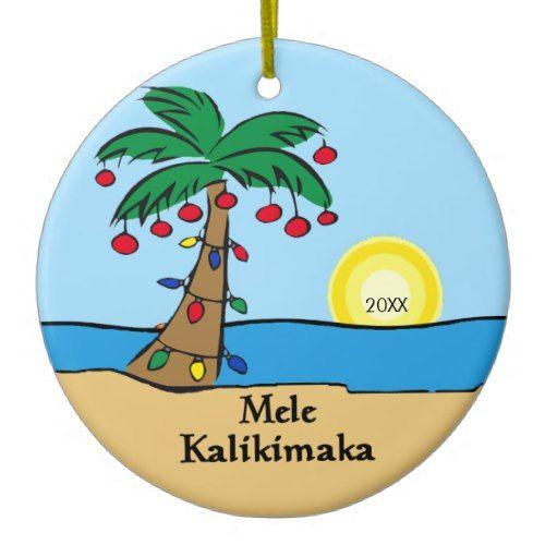 Palm Tree Tropical Hawaiian Christmas Ornament - Palm Tree Tropical Hawaiian Christmas Ornament In 2019 Popular
