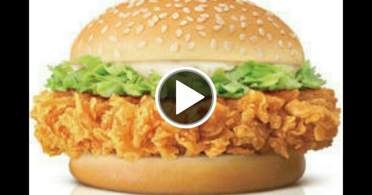 Crispy Zinger Burger Kfc Style By Food Lovers Burger Food Zingers Recipe