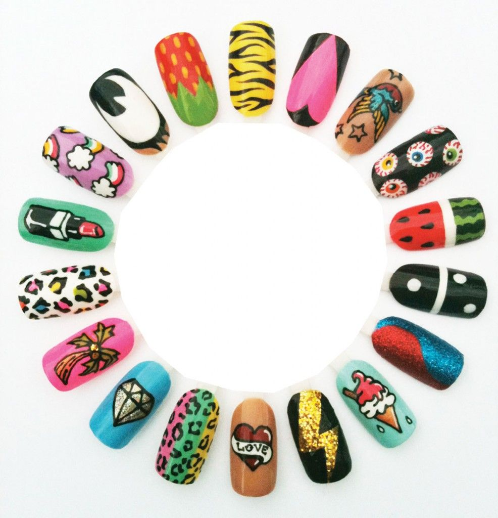 Want a different design on every nail this summer? Not a problem ...