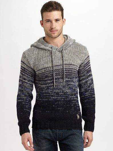 Diesel Melange Hooded Sweater Threads Mens Fashion