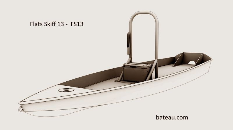Solo skiff for flats fishing, fishing kayak, fishing SUP   SkiffS