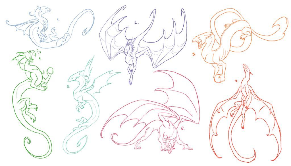 Dragon Pose References for FREE 2 by Poci16 on DeviantArt