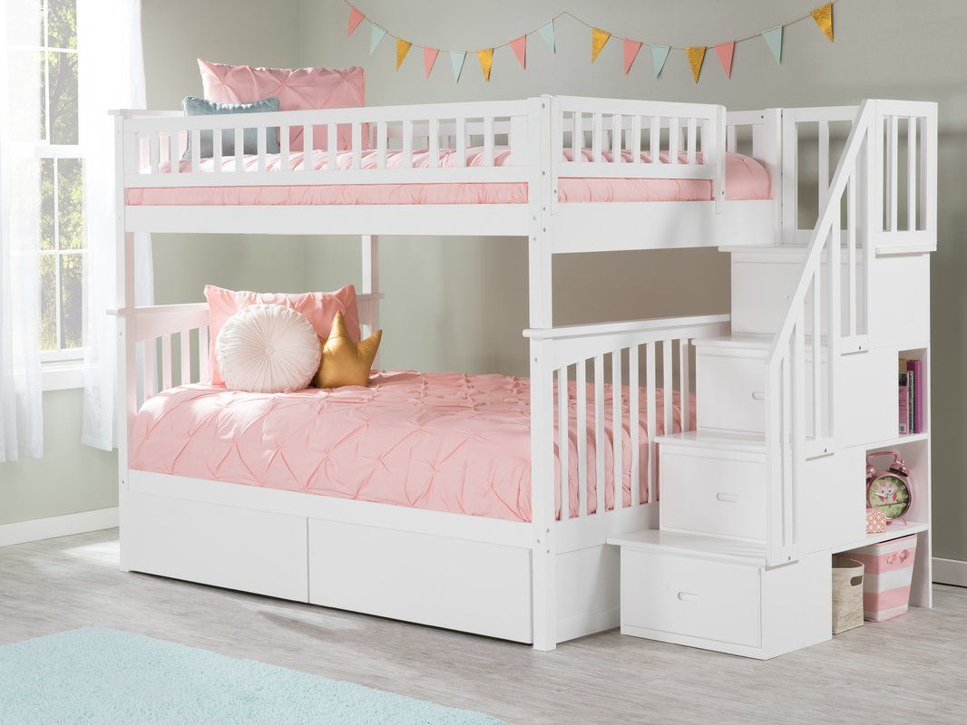 Abel Staircase Full Over Full Bunk Bed Bunk Bed With Trundle