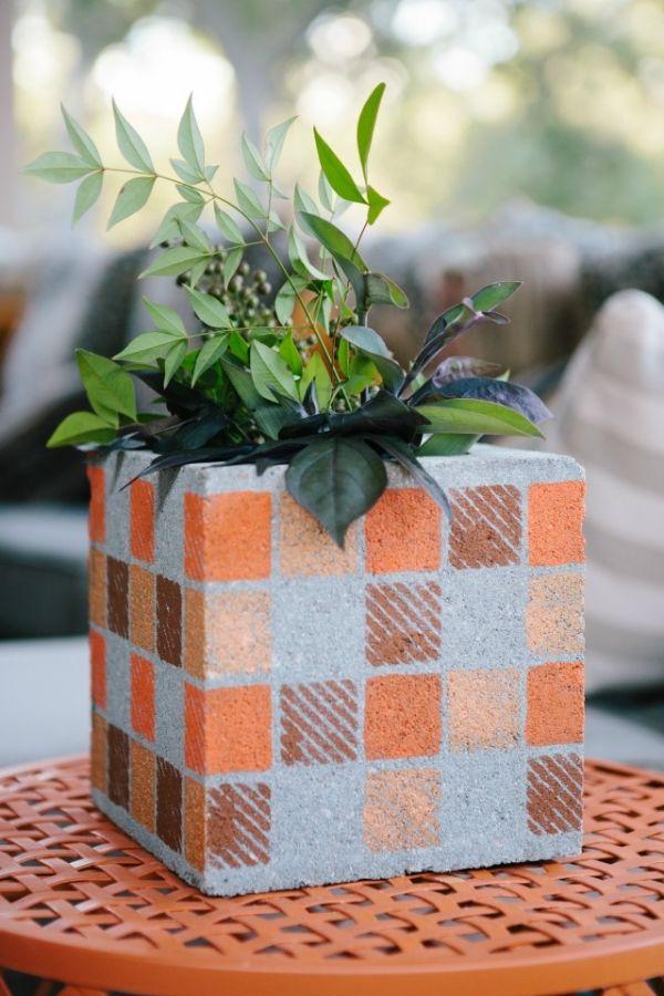 betonpflanzkübel-ideen zum selbermachen-wohnung dekorieren Deko - wohnung ideen selber machen