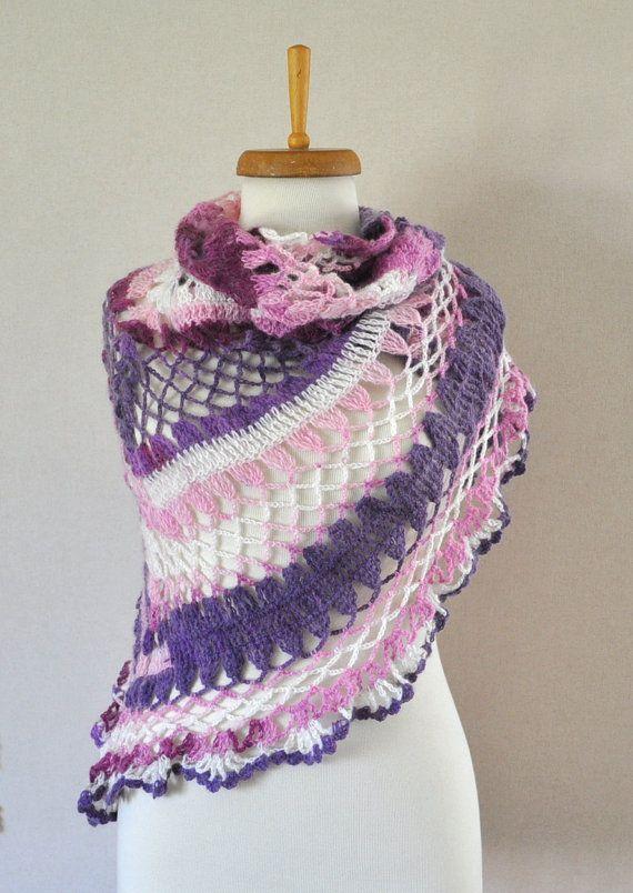 Multicolor shawl Mohair Shawl Crochet shawl by DokumaAccessories ...