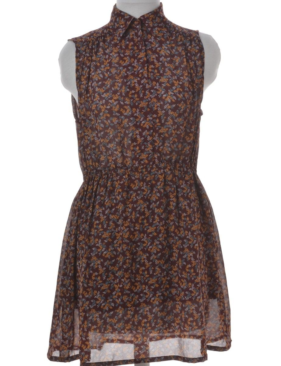 Vintage beyond retro label short dress dark brown with an