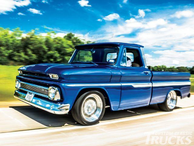 1964 Chevy C10 True Blue Companion Custom Classic Trucks Magazine Chevy Trucks Classic Trucks Classic Chevy Trucks