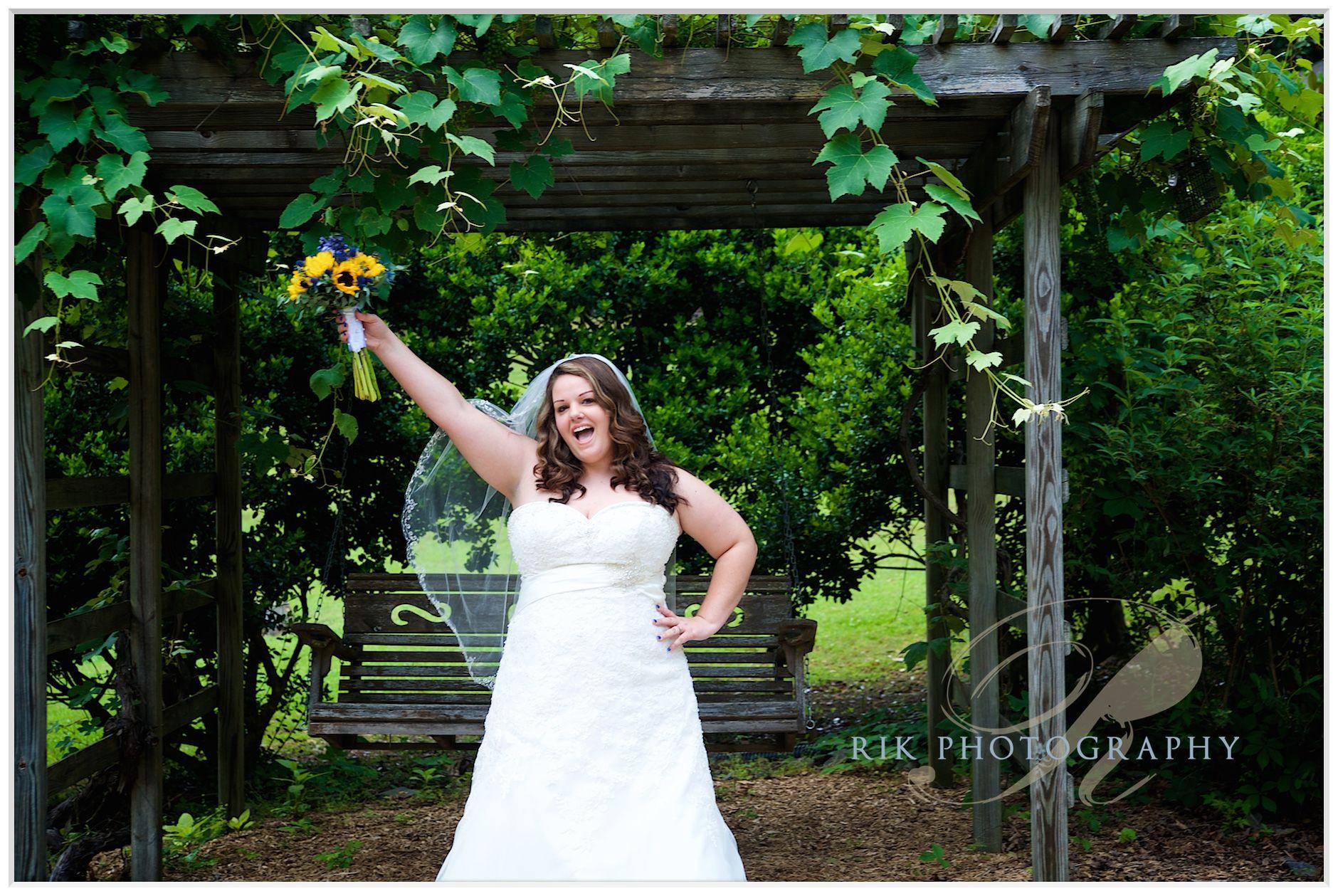 Grapevine arbor wedding dresses