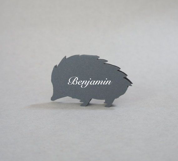 Hedgehog  Place Cards  Wedding Place Cards  by JonNiPaperGoods, $100.00