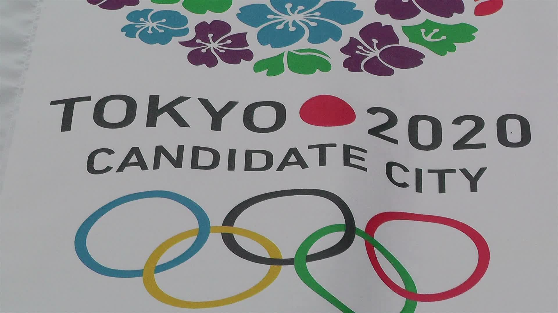 Tokyo 2020 Olympic Games Canditate Flags 6 Stock Footage