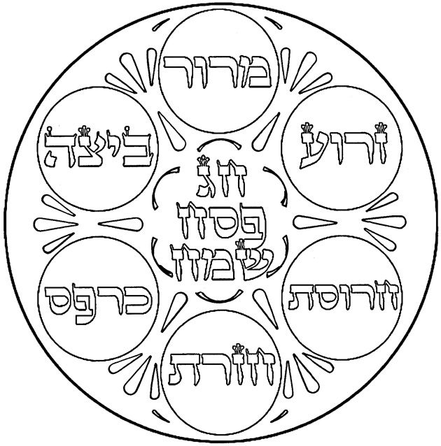 seder coloring pages coloring page of seder plate passover