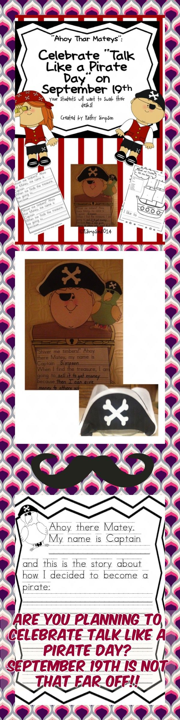 "Pirates Celebrate ""Talk Like a Pirate Day"" Writing and Craftivity"