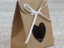 10 x Geschenkbox mit Herz, kraft