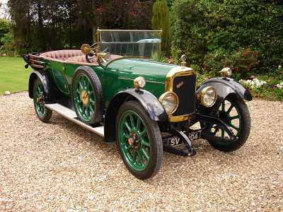1919 Belsize 15/20HP open tourer.  Belsize Motors of Clayton, Manchester, were in  business from 1897 to 1925, producing their first cars in  about 1901.
