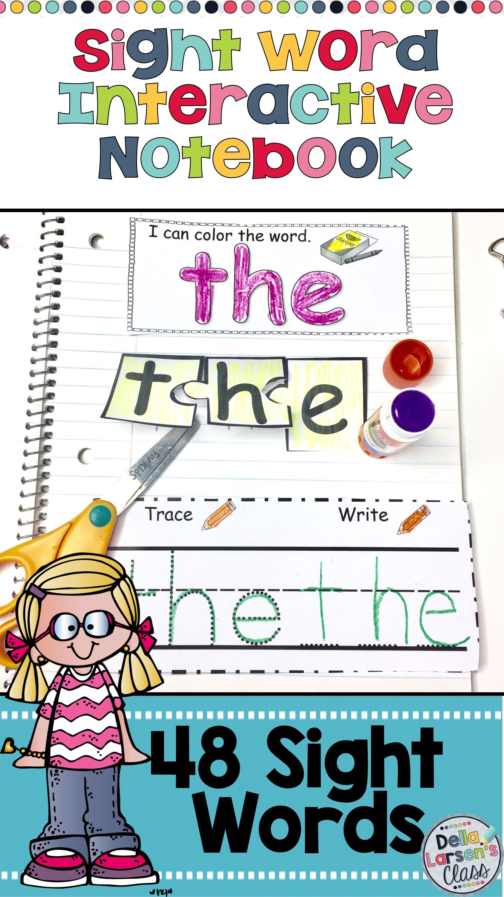 Sight Word Interactive Notebook For Kindergarten With