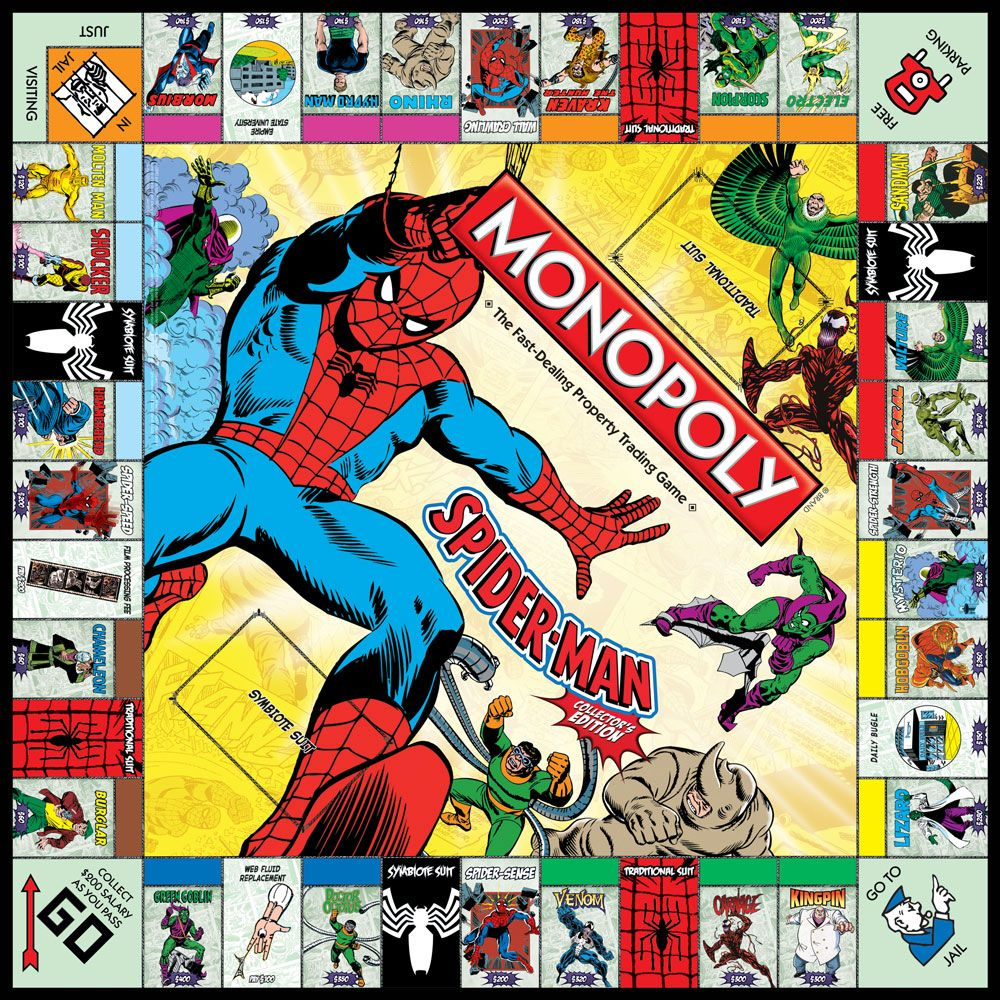 Spider man collector s edition monopoly board game