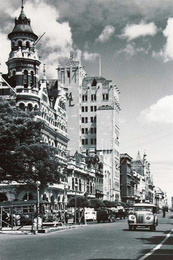 St George's Terrace in Perth in the 1920s. Moir Chambers Arch. JJT Hobbs