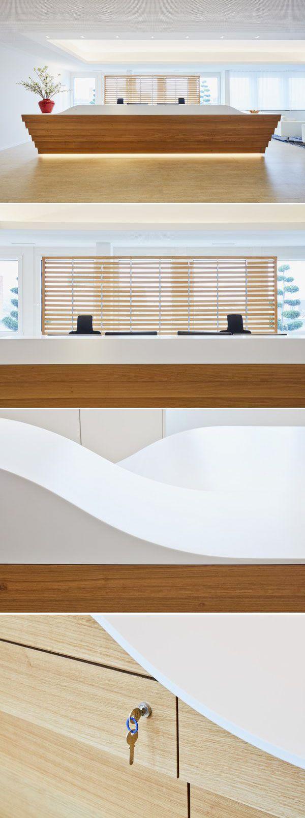 Oak Hi Macs Solid Surface Desk Designed By Rolf Kipfer Ag  # Muebles Hi Macs