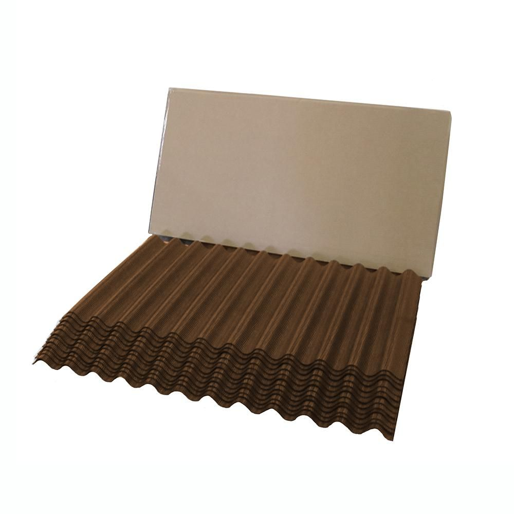 Ondura 4 33 Ft Brown Jumbo Shingle Corrugated Shingle Asphalt