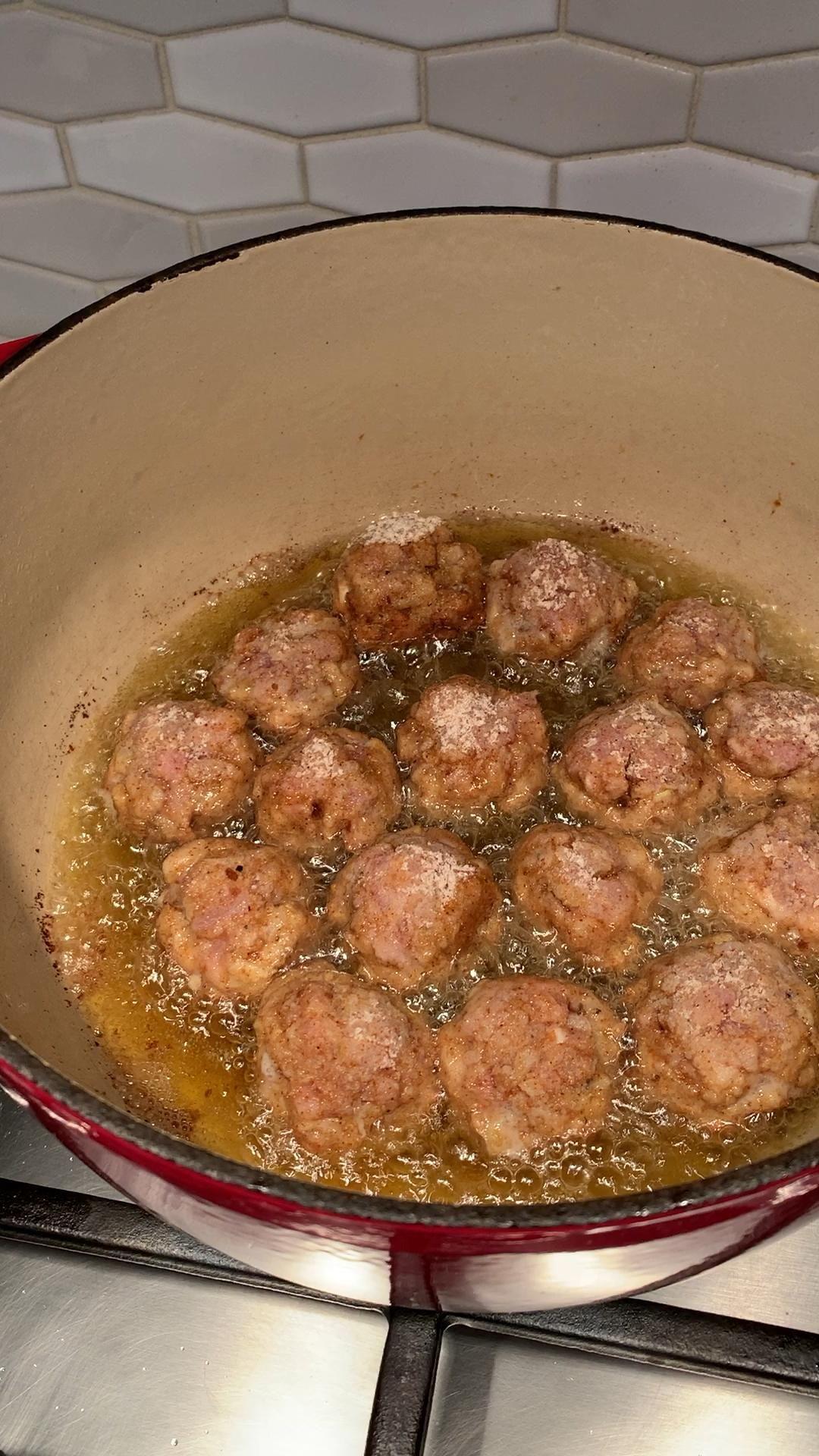 Video Chicken Meatballs Ide Makanan Makanan Dan Minuman Resep Makanan