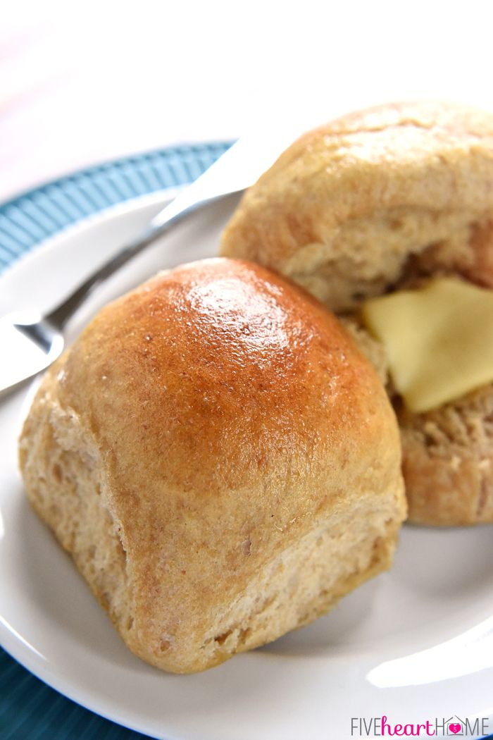 Homemade Whole Wheat Dinner Rolls ~ adapted from our incredibly popular  Homemade Whole Wheat Bread recipe