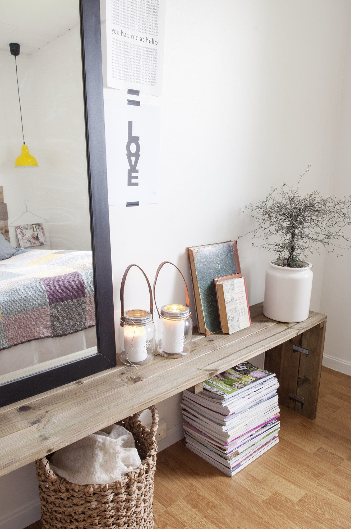 small bench DIY. end table (sofa, bed....) | Woonkamer | Pinterest ...