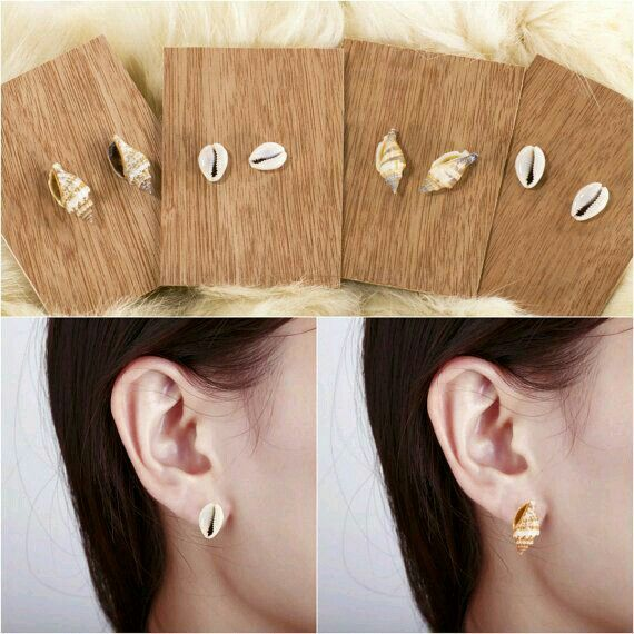 earings   jewelry   Pinterest   Sea shells, Jewelry and ...