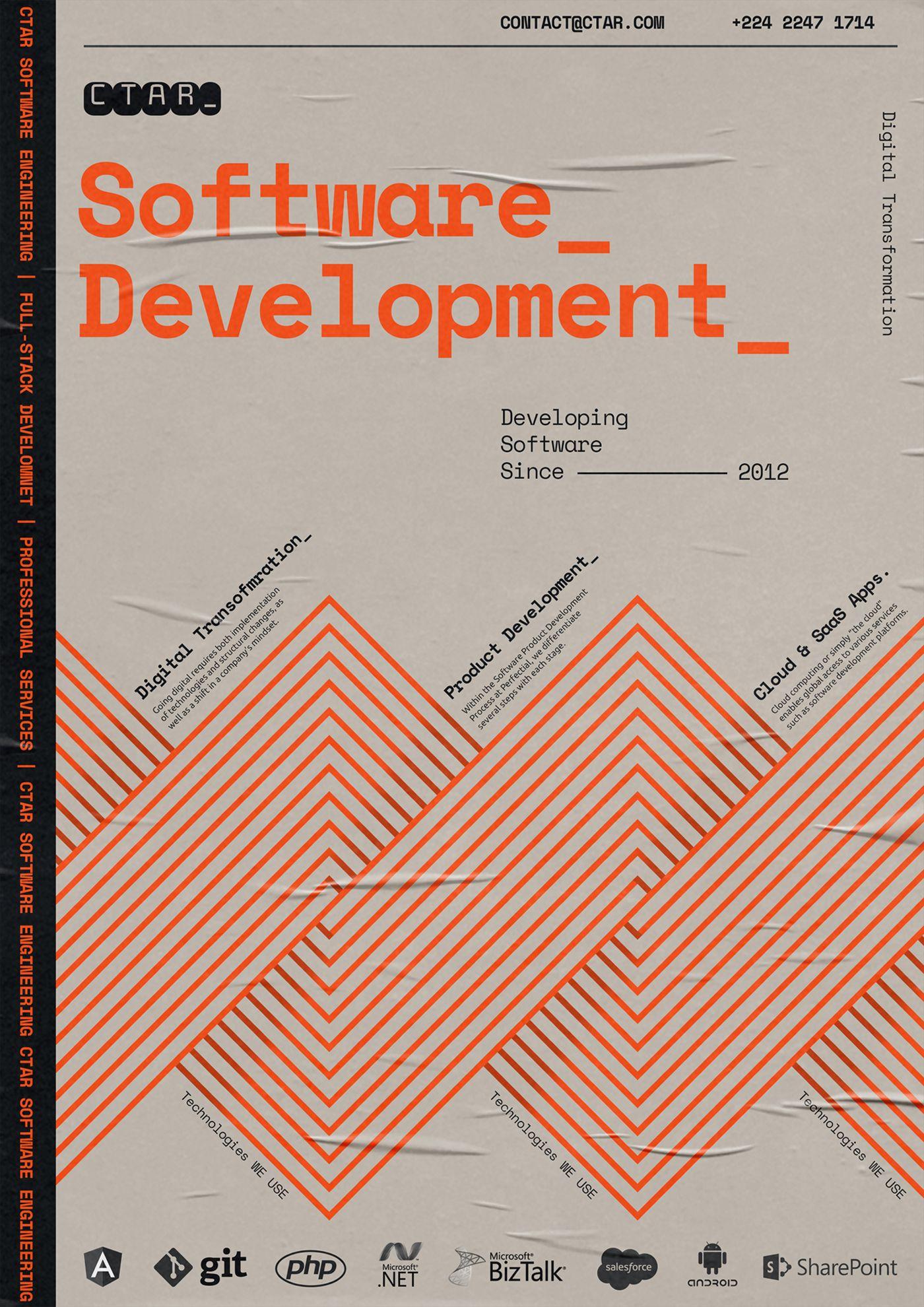 software development poster design