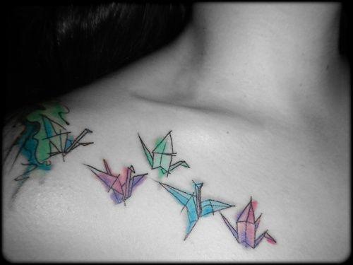Photo of origami cranes on Tumblr