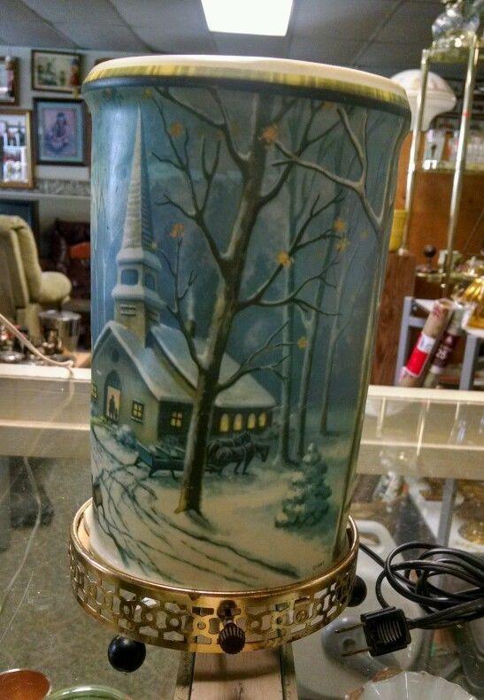 Vintage 1957 Econolite Motion Lamp Snow Scene Mill