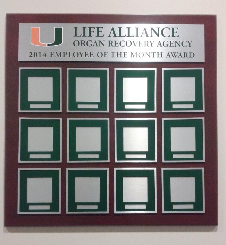 Employee Of The Month Plaque With Removable And Changeable Slots For Photos And Employee Names Http Hangmeninc Com Frame Template Printable Picture Frames