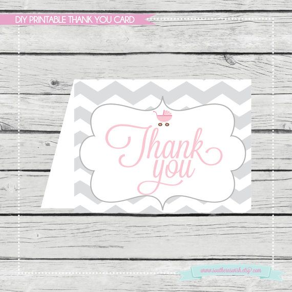 Personalized Baby Shower Printable Stationery or by SouthernSwish, $4.50