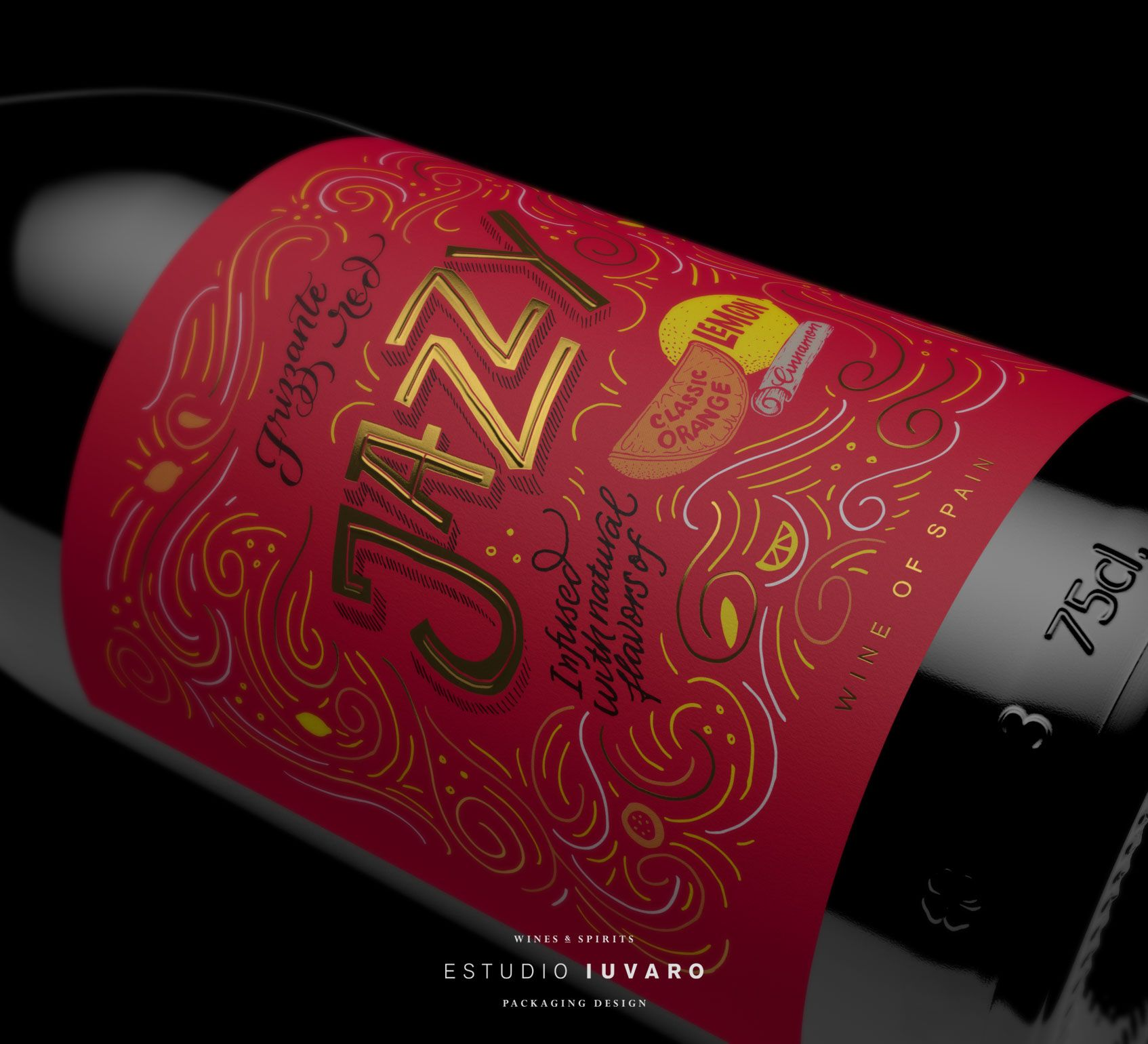 Keep It Jazzy With These Playful Wines Wine Design Wine Label Design Wine Beer