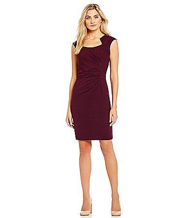 Calvin Klein Womens Lux Popover CD4X1028 Black/White - Dresses
