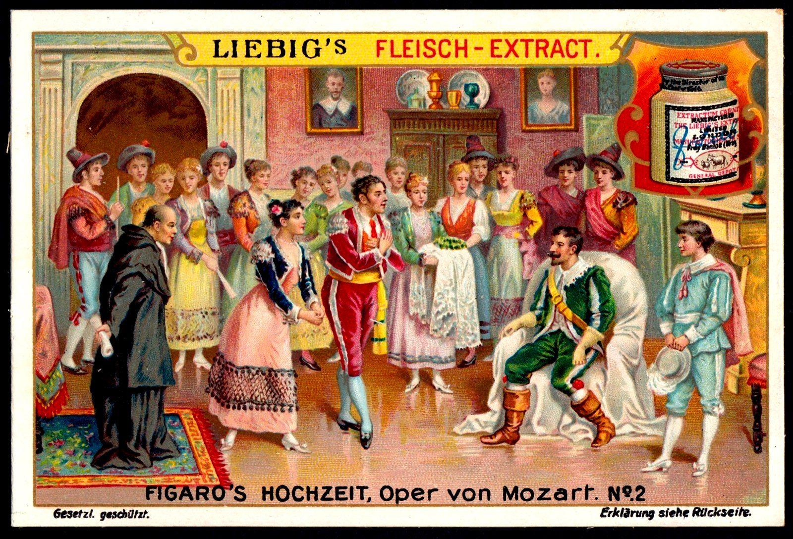 Liebig Tradecard S828 The Marriage Of Figaro Opera Amadeus Mozart