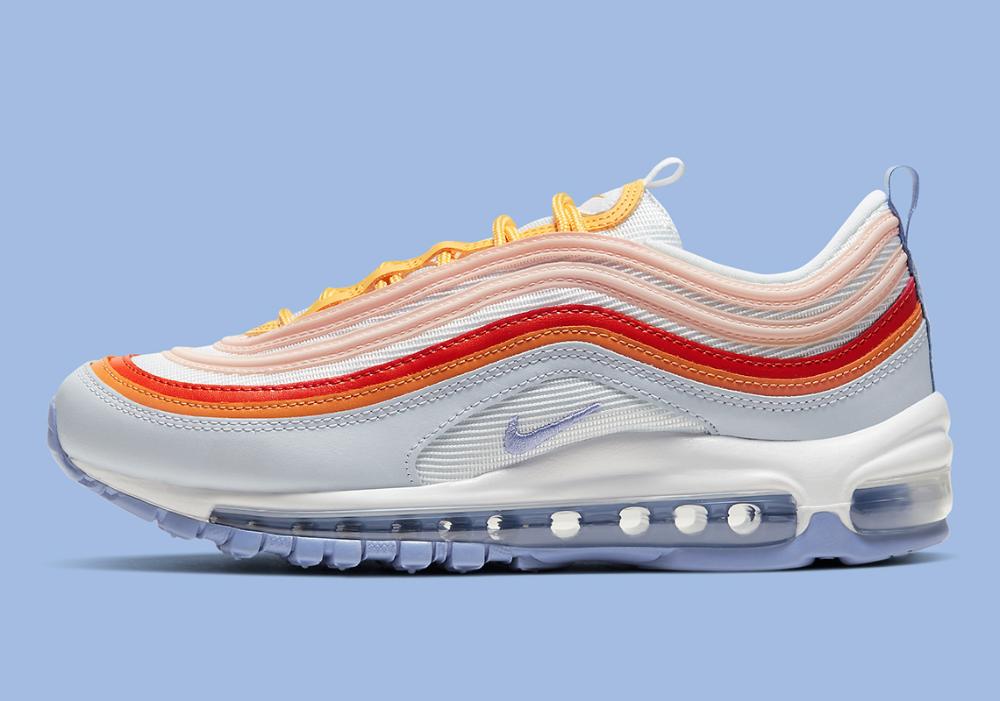 circulación Elemental protestante  Nike Air Max 97 Violet Red Orange CW5588-001 | SneakerNews.com | Nike air  max, Air max 97, Air max