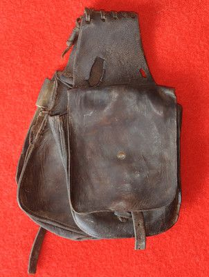457839d32f Antique Vintage Western Wyoming Cowboy Saddle Bags Pockets 1900 ...