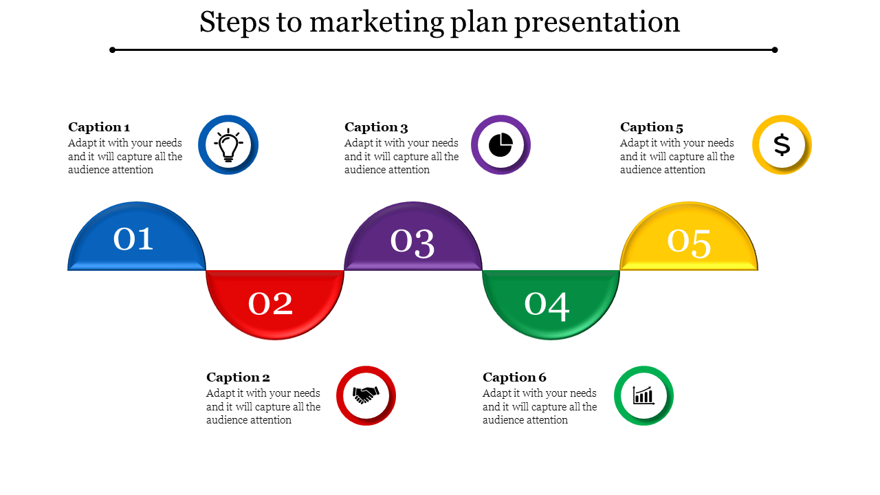 Marketing Plan Sample PPT Semi Circle Model Marketing