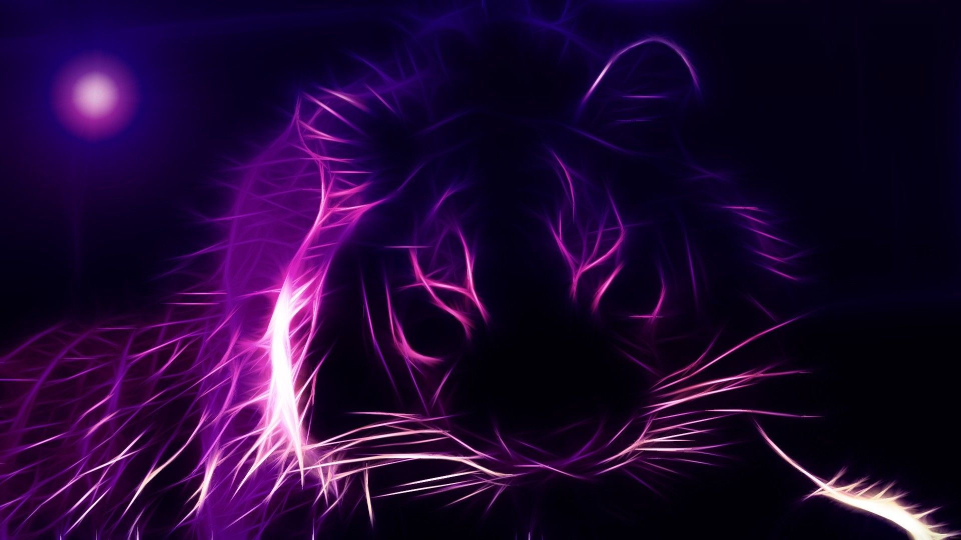 1920x1080 Purple Fantasy Lion Desktop Pc And Mac Wallpaper