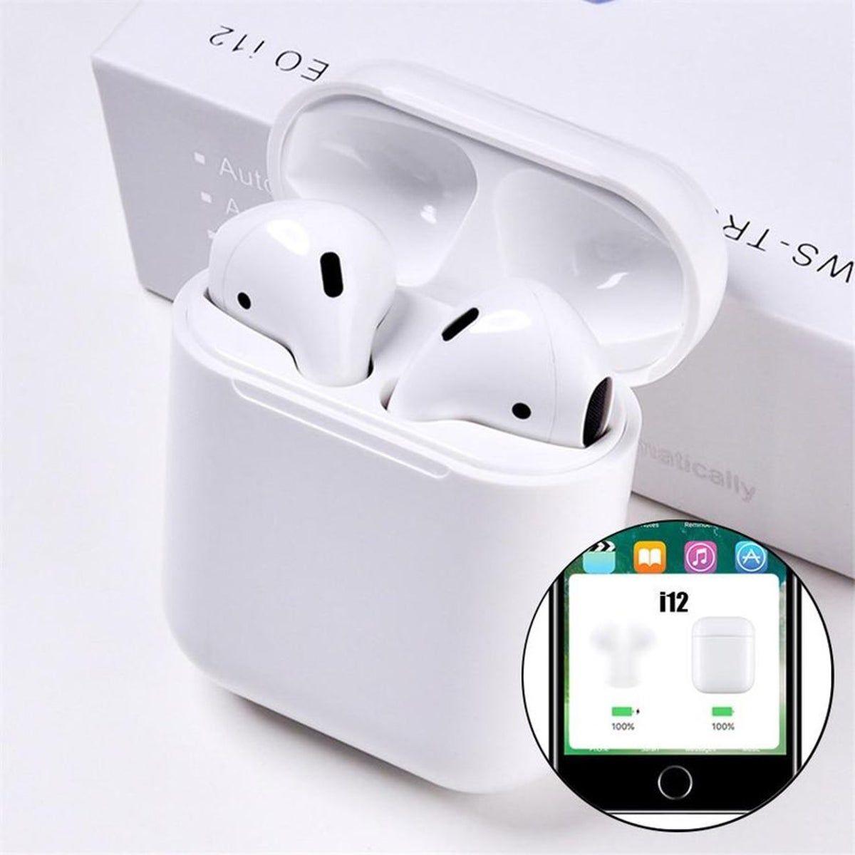 I12 Tws Airpods On Mercari Headphones Bluetooth Headset Wireless Bluetooth