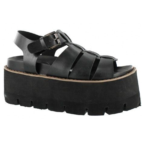 1255baf71 SANDALIA CASUAL MISS CAROL BLACK Calzado