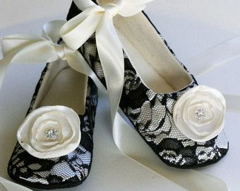 Brocade Baby Girl Shoe Silver Couture Baby Ballet by BabySouls
